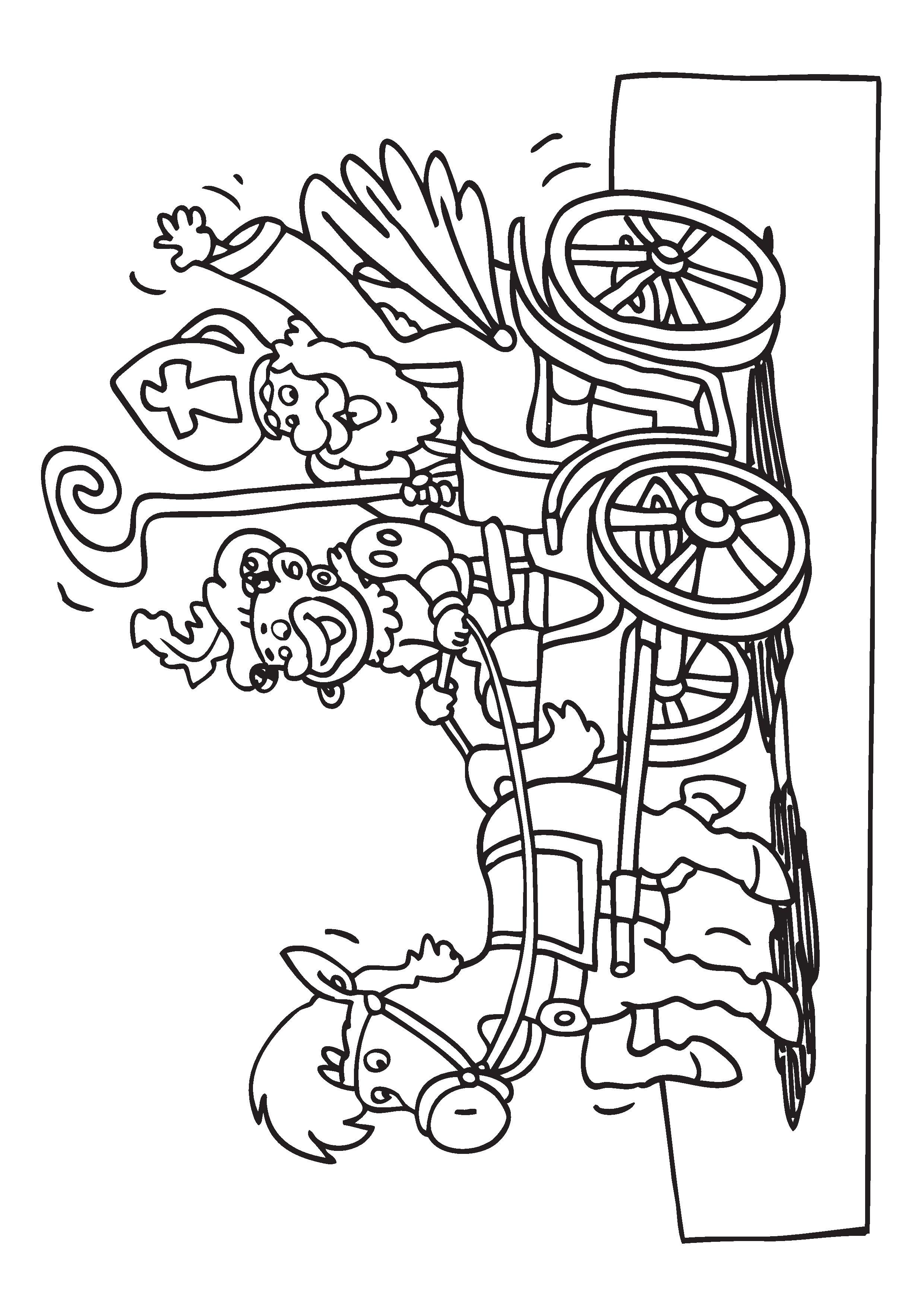 Kleurplaten Feestdagen.Kleurplaten Sinterklaas Paard Kleurplaat