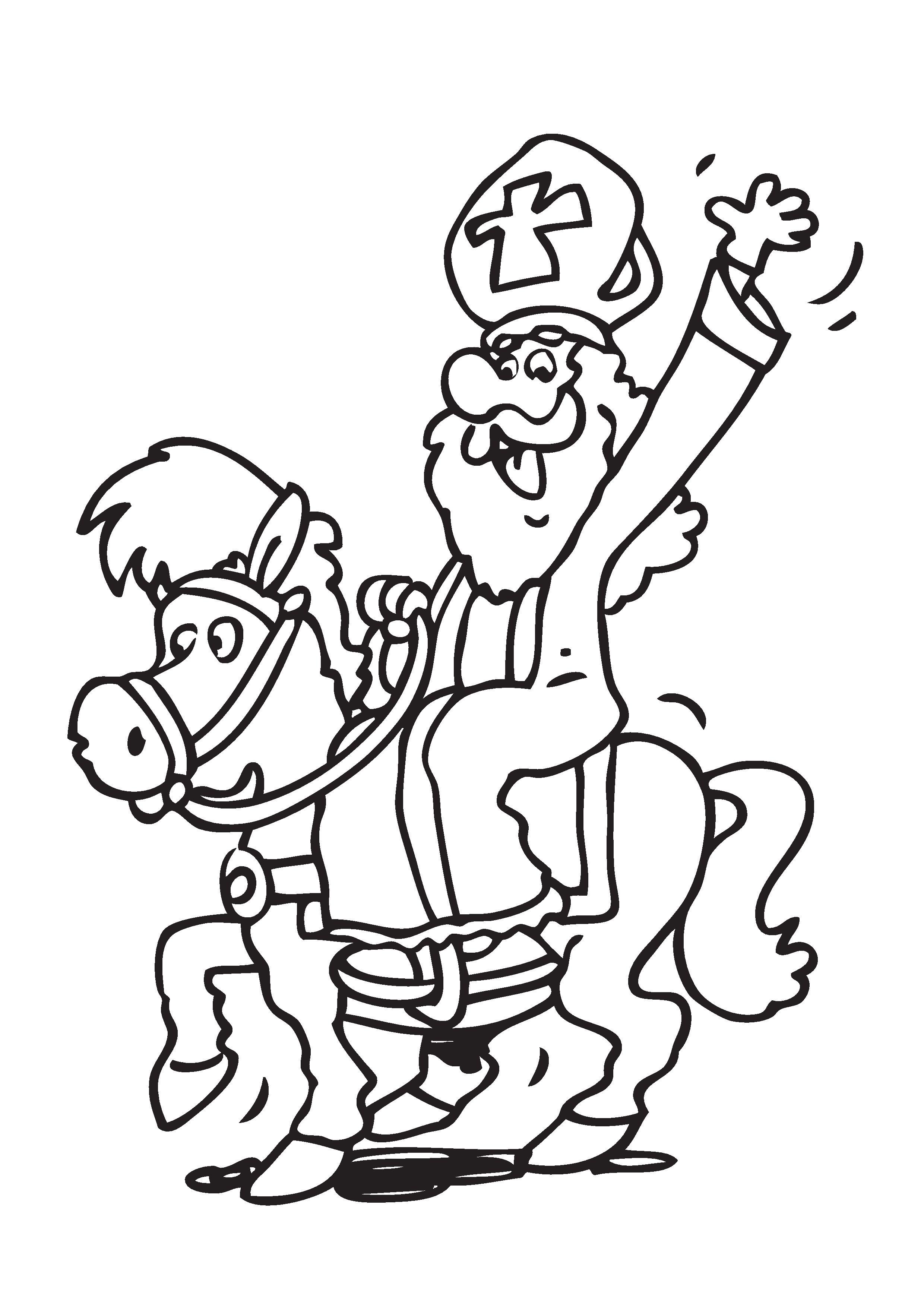 Quatang Gallery- Kleurplaat Sinterklaas Paard 2020 Voor Peuters En Kleuters