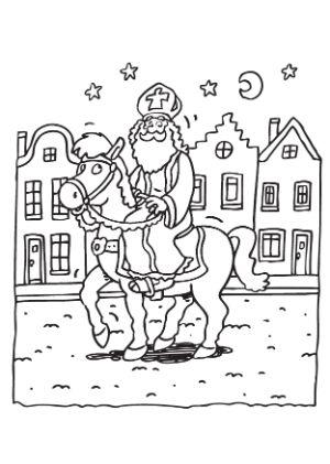 Kleurplaten Sint Paard.88 Sinterklaas Kleurplaten 2020 Eenvoudig Printen En Kleuren